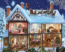 christmas houses christmas house 1000 puzzle white mountain puzzles