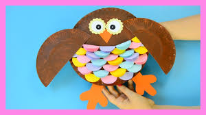 owl paper plate craft for kids youtube