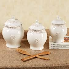ceramic kitchen canister set adeline ivory kitchen canister set canisters pinterest