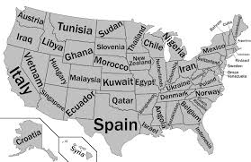 Us Map States Labeled by This Map Shows Us States Labeled As Countries With Similar Gdps