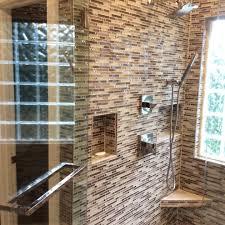glazzio tile bathroom industrial with shower glass rectangular