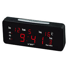 compare prices on digital led wall clock large display online