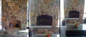 Outdoor Fieldstone Fireplace - outdoor fireplaces kitchens custom stone
