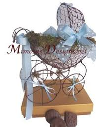 vintage baby carriage centerpiece baby shower by mimosasdesigns
