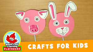 animal mask craft for kids maple leaf learning playhouse youtube