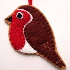 robin felt bird ornament decoration folksy