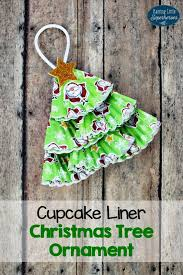 cupcake liner tree ornament for cupcake liners
