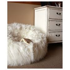 shaggy fur bean bag cover cream temple u0026 webster
