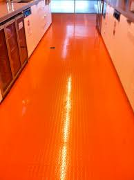 flooring ideas orange coin grip texture rubber flooring smart homes