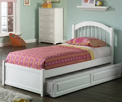 monroe collection white padded leather twin daybed with trundle