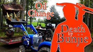 how to change the oil in a new holland boomer 24 tractor youtube