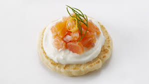 bellini canape smoked salmon blini canapés recipe food