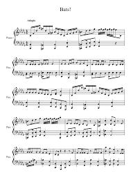 thanksgiving piano sheet music my little pony friendship is magic bats musescore