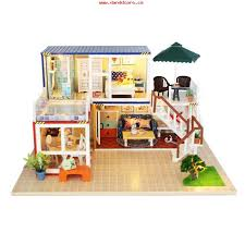 Sweet Coffee Shop France Style Diy Doll House 3d Miniature 100 Diy Doll House Kits Diy Dollhouse Kits U2013 Page 2