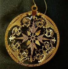 gold plated christmas ornaments danbury mint annual 2002 snowflake enchantment gold plated