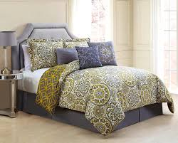 accessories pleasing cool and elegant grey yellow bedroom for