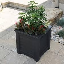 southern planter boxes square vinyl deck planters hooks and lattice