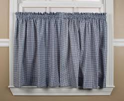 Gingham Curtains Blue Gingham Curtains U0026 Check Print Curtains Window Toppers