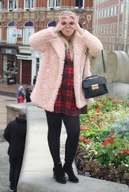 picture of with plaid dress black tights and ankle boots