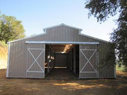 Steel Barns Sale Shedrow Gable Shed Gambrel Barn Horse Barns Loafing Shed