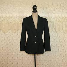 shop women u0027s black wool blazer on wanelo