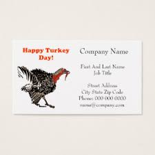 happy thanksgiving business cards templates zazzle