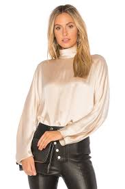 blouse band vince band collar blouse in revolve