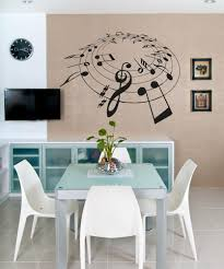 vinyl wall decal sticker music note circle os aa813