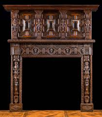 a small jacobean carved oak fireplace mantel victorian homes