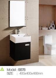 Pvc Vanity Customized Handle Feet Narrow Bathroom Sink Vanity 15mm Door