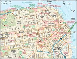 san francisco map downtown san francisco map guide to san francisco california