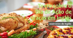 exercício texto em inglês sobre o dia de ação de graças