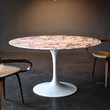 marble top pedestal table round pedestal dining table by eero saarinen with marble top 80905