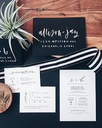 black and white striped wedding invitations minimalist black and white handlettered wedding invitations by