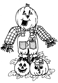 scarecrow and pumpkin clipart 33