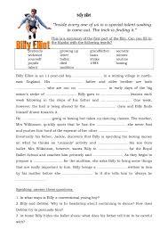 worksheet billy elliot