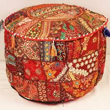 Ottoman Red by Buy Indian Pouf Ottoman Red Large Online At Multimatecollection
