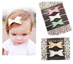 leather bow headband set set of 5 bow headbands baby