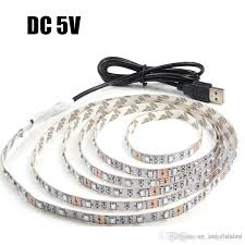 usb powered led light usb power supply led strip light non waterproof 5v 3528smd stripe