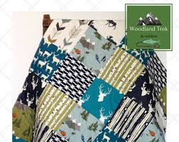 baby quilt rustic baby bedding woodland baby quilt moose crib