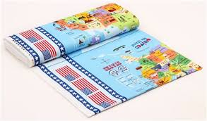 usa map american flag panel fabric by timeless treasures usa
