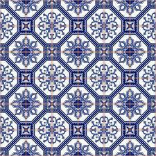 seamless pattern white moroccan portuguese tiles azulejo