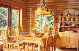 Log Home Interior Photos Log Home Dining