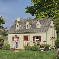 Wooden Backyard Playhouse Wooden Outdoor Playhouses Hayneedle