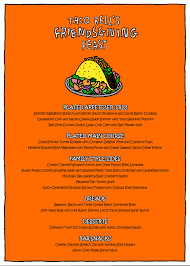this fancy friendsgiving menu includes taco bell in every dish watch
