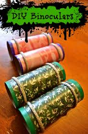 camo toilet paper tube camping binoculars craft for kids