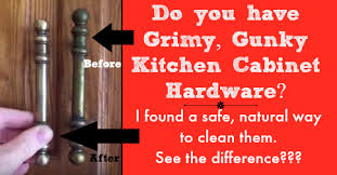 How To Remove Greasy Film From Kitchen Cabinets How To Clean Kitchen Cabinet Hardware And Knobs