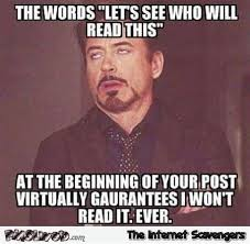 Sarcastic Memes - the words let s see who will read this funny sarcastic meme pmslweb