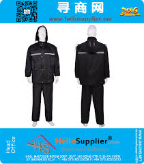 bicycle rain gear reflective light thickening raincoat rain pants set electric