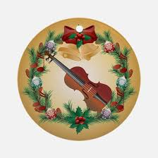 violin ornament cafepress